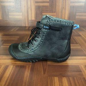 JAMBU STAR Grey Vegan Lace-Up Ankle Boots